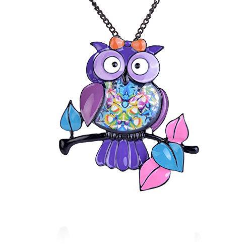 Uil di kleur paars schattige nagellak dier voor dames mantel jurk decoratie accessoires kerstspelden voor kinderen broches