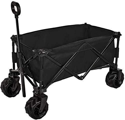 Action club Folding Wagon Collapsible Utility Big Wheels Shopping Cart for Beach...