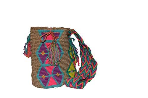 Bolso Colombiano Beige Wayuu Multicolor