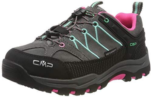 CMP Kids Rigel Low Shoes Wp Trekking- & Wanderhalbschuhe, Schwarz (Graffite-Aqua Mint 37ud), 41 EU