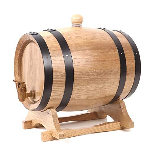 SS mutong Barril de Roble Barril de Roble, Barril de Vino Envejecido en Madera de Roble Vintage 5L con Grifo Whisky Vino Cerveza Espirituosos Puerto Vino, Cerveza, Sidra, Whisky.