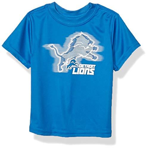NFL Detroit Lions Baby-Boys Short Sleeve Solid Logo Tee Shirt, Team Color, 18M