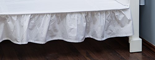 Vizaro - JUPE DE LIT EBOURRIFÉE| DRAP HOUSSE pour décorer le LIT BÉBÉ 60x120cm - 100% COTON - Fabriqué en UE, OekoTex - C. Broderie Blanche