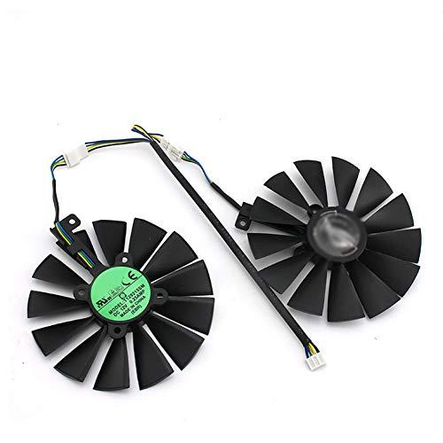 T129215SM 95mm Cooler Fan for ASUS Strix RX 470 580 570 GTX 1050Ti 1070Ti 1080Ti Gaming Video Card Cooling Fan (2 Pcs)