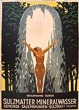 Poster di Sulzmatter Mineralwasser Gemeinde, formato 50 x 70 cm, carta lusso 300 g, tutti i formati e supporti possibili