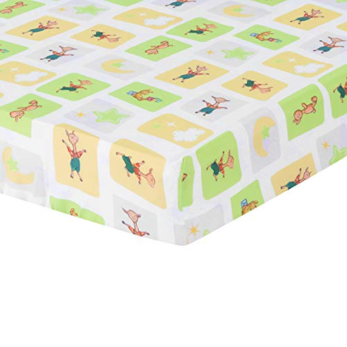 EVERYDAY KIDS Llama Llama Spannbettlaken für Babybett Junge oder Mädchen - Blockdruck von Lama, Llama...