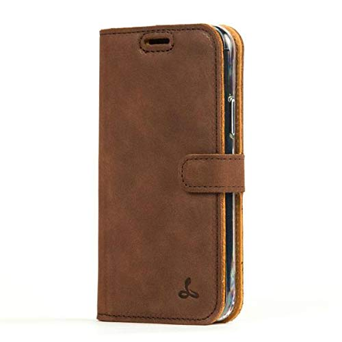 Snakehive Vintage Wallet for Google Pixel 4XL || Genuine Leather Wallet Phone Case || Real Leather with Viewing Stand & 3 Card Holder || Flip Folio Cover with Card Slot (Brown)