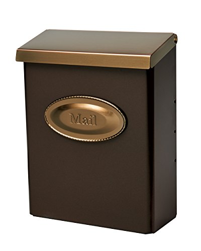 Gibraltar Mailboxes Designer Locking Medium Capacity Galvanized Steel Venetian Bronze, Wall-Mount Mailbox, DMVKGV04