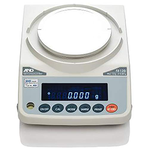 A&D FX-120iN Precision Balance,Compact Scale 122 g X 0.001 g,NTEP (by 0.01g) Legal for Trade,Draft shield,RS232,New