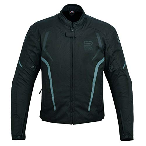 R1 Chaqueta De Moto Moto Para Hombre Chaqueta Moto Hombre Textil Impermeable (NEGRO/GRIS, XXL)