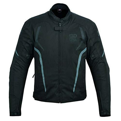 R1 Chaqueta De Moto Moto Para Hombre Chaqueta Moto Hombre Textil Impermeable (NEGRO/GRIS, L)