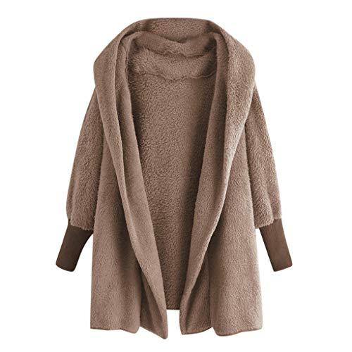 VECDY Damen Winter Jacke Windbreaker Mantel Frauen Kapuzen Sweatshirt Mantel Winter Warme Plüschtaschen Baumwollmantel Outwear Winterjacke