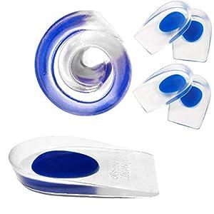 ZusFut 2 Pares Taloneras de Silicona-Blandita Plantilla de Gel Talonera con Alzas para Zapatos Mujer Hombre