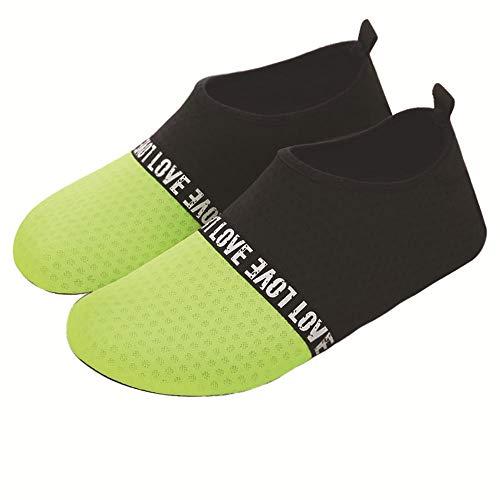 MHP Strandduikschoenen voor dames en heren, badschoenen, blote voetschoenen met zachte zolen 42-43 groen