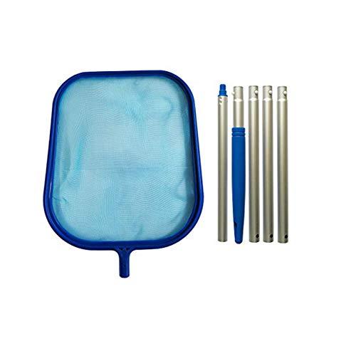 Pool-Skimmer – Premium Deep Bag Laubbesen mit 1,2 m robuster, verstellbarer Teleskopstange aus Aluminium, feines Netzgewebe, stabiler Rahmen, starker Griff, auch geeignet für Spas und Whirlpools