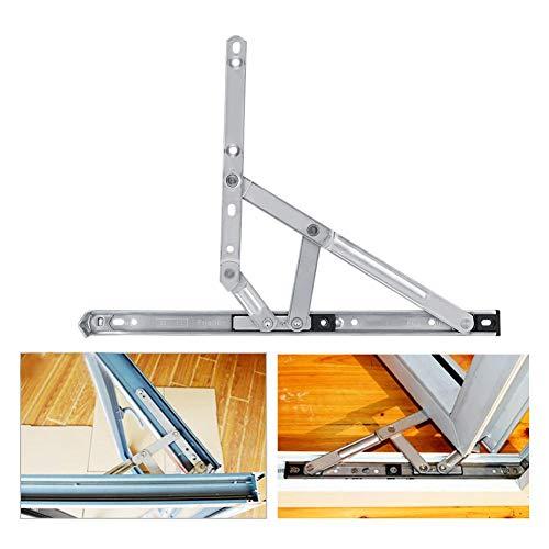 【𝐖𝐞𝐢𝐡𝐧𝐚𝐜𝐡𝐭𝐬𝐠𝐞𝐬𝐜𝐡𝐞𝐧𝐤】 Fensterhalterung, Winddichte Schiebegleitscheibe Fensterbegrenzer, Hardware-Sicherheit für zu Hause 14 Zoll 304 Edelstahl für Wohnfenster Wohnzimmer Küche