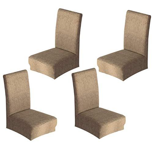 Tubayia Juego de 4 fundas protectoras para sillas de comedor, banquetes, hoteles, etc.