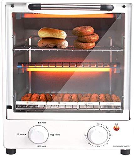Mini horno de pizza 1000W Horno de convección, temporizador de minutos, puede freír huevos, recordatorio de anillo automático, 266273341mm