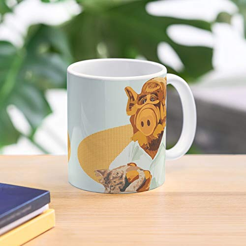 5TheWay Kitty Mug Here Alf Best 11 oz Kaffeebecher - Nespresso Tassen Kaffee Motive