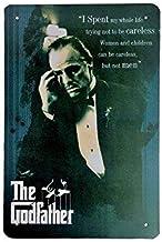 DiiliHiiri Cartel de Chapa Vintage Decoración, Letrero A4 Estilo Antiguo de metálico Retro - The Godfather Al Pacino