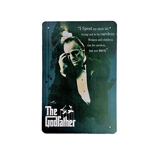 DiiliHiiri Cartel de Chapa Vintage Decoración, Letrero A4 Estilo Antiguo de metálico Retro (The Godfather)