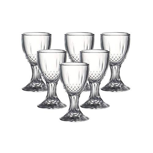 YEZINB Set von 6 0,5 Unzen chinesischen Baijiu Schnapsgläsern aus bleifreiem Glas Schnapsglas für Bar Party 15ml, 0,5 Unzen 15ml
