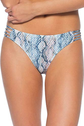 ISABELLA ROSE Women's Maui Snakeskin Tab Side Hipster Bikini Bottom Multi S