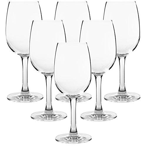 FD Markengläser - Hochwertige Rotweingläser 6er Set Weinglas Rotweinglas höhe 18cm - Füllmenge:max. 260ml - spülmaschinenfest