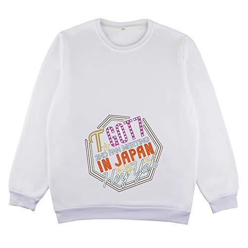 GOT7 Sacs à Dos Nouveau Printemps coréen col Rond Pull Mode Hommes Occasionnels à Capuche Unisexe (Color : White08, Size : XXL)