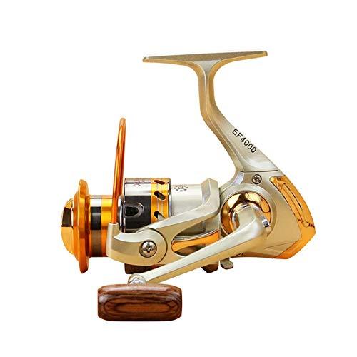 Rueda de pesca giratoria de metal de la rueda de larga distancia de la serie 500-9000 5.5: 1 Reel de pesca 12 Bola de rodamientos carrete de pesca Rotación de carrete de pesca Accesorios Para la línea