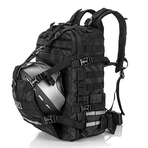 Helmet Backpack 24L, Large Capacity Motorcycle Backpack, Waterproof Helmet Holder Basketball Luggage Storage Bag Men for Cycling Sports Outdoor Activities
