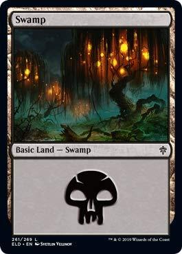 Magic: The Gathering - Swamp (261) - Foil - Throne of Eldraine