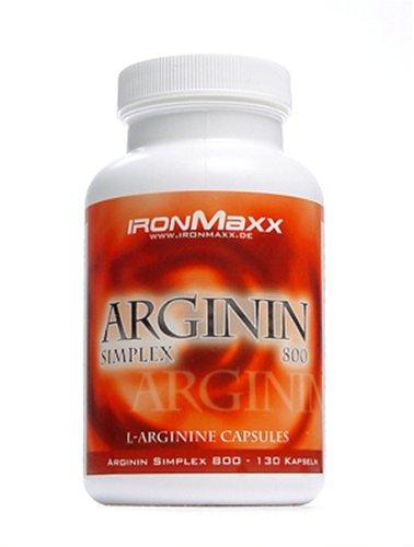 Ironmaxx Arginin Simplex 800, 130 Kapseln ( 115.7 g)