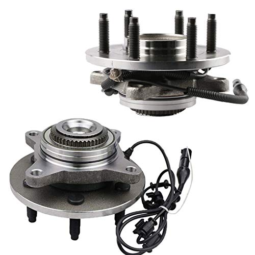Detroit Axle - 4WD Front Wheel Bearing & Hub Assembly Replacement for 2005 2006 2007 2008 Ford F-150 Lincoln Mark LT (Column1 6 Stud; Built From 11/29/04) - 2pc Set