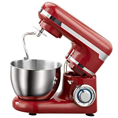 Cocina Alimentos mezclador rack, tazón de acero inoxidable de 6 velocidades crema de huevo batidor de huevo Mezclador de la torta de masa de pan mezclador 1200W 4L