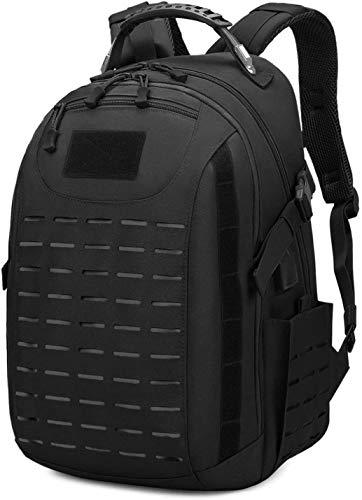 tgbnh Mochila táctica 25L Military al Aire Libre Impermeable Mochila Bolsa de Equipaje para Trekking Camping Ciclismo Escalada Caza (Color : Black 8028)
