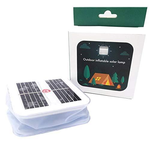 Kurphy 1 STK. Outdoor Sportbeleuchtung aufblasbare Lampe tragbare Campinglampe Faltbare quadratische Solar Campinglampe