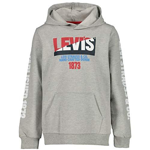 Levi's® Jungen Sweatshirt mit Kapuze Moto Split Hoodie grau (13) 116