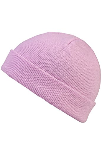 MSTRDS Unisex Strickmützen Short Pastel Cuff Knit Beanie, Rosa (Lavender 4759), One Size (one size)