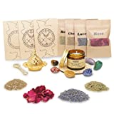 Soulnioi Witchcraft kit for Wiccan Supplies and Tools | sage Candles for Cleansing House + 4 Herbs for Witchcraft + 7 Healing Crystals, for Altar Supplies, Wiccan Decor, Wiccan Gifts for Women
