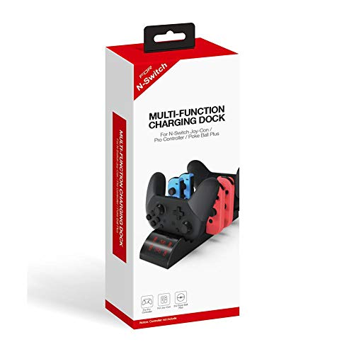 8 In 1 Game-Controller Wireless-Ladestation, Kompatibel Für Schalter Joy Con Joystick Basis Gamepad