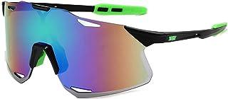 QWKLNRA - Gafas De Sol para Hombre Lente Azul Marco Negro Y Verde Polarised Sports Sunglasses Oversized Women Vintage Gafas De Sol Deportivas para Hombre Gafas De Sol para Hombre Deportes Conducción