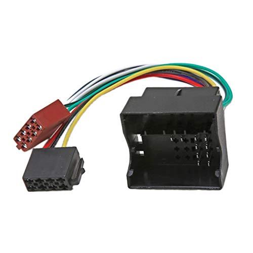 Toygogo Adaptador ISO para Radio de Coche, Enchufe, Conector de Arnés de Cables Estéreo para Coche para Volkswagen, Bora, para Jetta