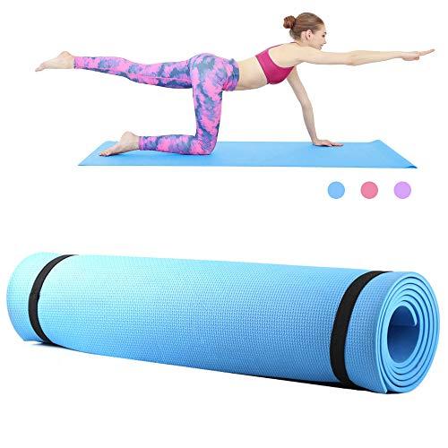 Roeam Yogamatte,Fitness Sportmatte, Yogamatte rutschfest,Yoga Matte,Household Gym Training Pad für Frauen Männer,173 * 61 * 0.6 cm