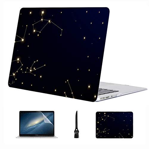 13 Estuche para Macbook Pro Azul Galaxy Secrety Space Carcasa rígida de plástico Compatible con Mac Air 13'Pro 13' / 16'Macbook Pro Protector de Pantalla Cubierta Protectora para 2016-2020 Versión