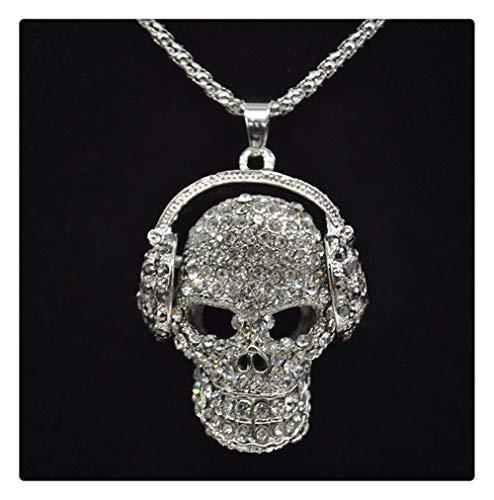 Chenran Accesorios Hombres Mujeres Cráneo Colgante Collar Moda...