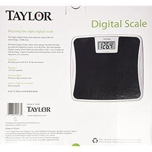 Digital 330LB Capacity Bathroom Scale Black Non Slip Mat