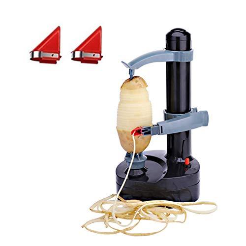 Pelador de patatas eléctrico-automático Rotary fruta y verdura cortadora de manzana máquina...