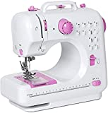 HAITRAL Sewing Machine, Crafting Mending Machine, Children Present Portable with 12 Built-in Stitches