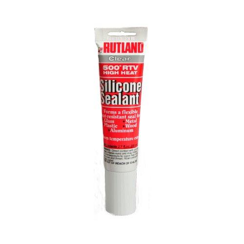 Rutland 500-Degree RTV High Heat Silicone Seal, 2.7-Ounce Tube, Clear